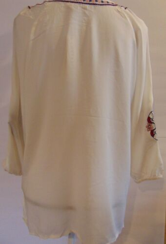 Love Stitch Women/'s Blouse Boho Peasant Floral Size LARGE New SMALL MEDIUM