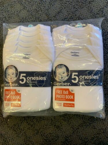 Gerber Onesies Double Pack 10 Total Size 3-6 M New