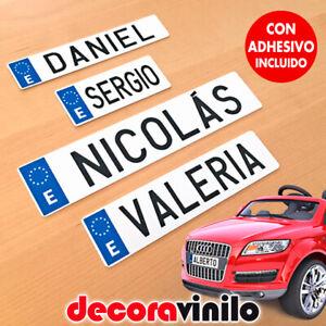Placa-matricula-personalizada-Espana-coche-electrico-nino-infantil-plastico-MTE1
