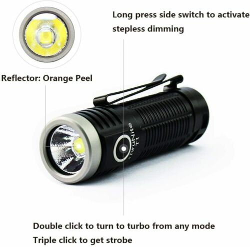 1500 lm CW Thrunite T1 magnétique bouchon de poche lampes de poche