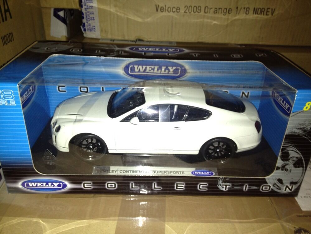 Welly 2008 Bentley Continental Coupe Supersports White 1 18 ScaleAwesome ScaleAwesome ScaleAwesome Car b5279b