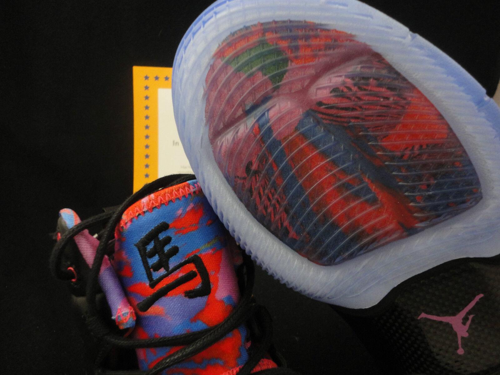 Nike jordan melo mio yoth, edizione limitata, anno del cavallo, dimensioni