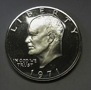 Beautiful-1971-S-Proof-40-Silver-Eisenhower-Ike-Dollar-Flashy-Gem-DUTCH