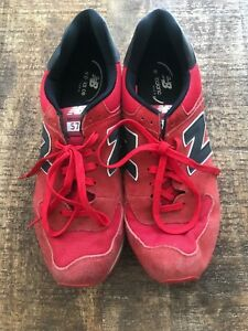quality design 937cd 40023 Details about New Balance 574 Men's Shoes Size 14 Red Black 2E Atheletic