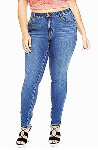 100% Vero Fashion To Figure Donna Taglie Forti Lycra Beauty Premium Jeans Aderenti - 18w E La Digestione Aiuta