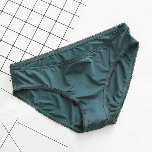 Breathable Women Briefs Ice Silk Thong Seamless Low Waist Ultra Thin Panties AU