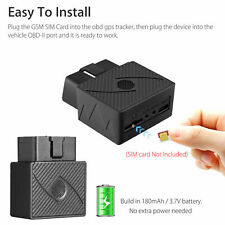 Car OBD Obd2 GPS Tracker GSM SIM Realtime GPRS Vehicle Tracking Security Device