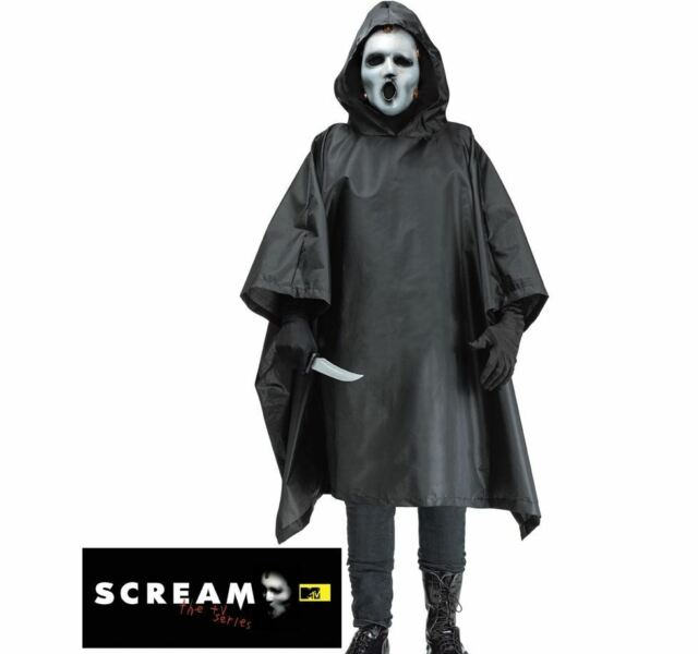 Adult SCREAM TV Series Robe + Mask Living Dead Men Halloween Fancy Dress Costume