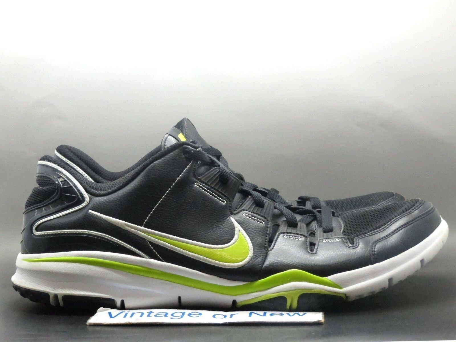 New shoes for men and women, limited time discount Men's Nike Free Sparq '09 Black Volt White Training Shoes 354787-031 Price reduction