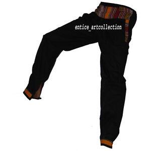Nepales Pantalones Hombre Mujer Boho Hippie Pantalones Genie Playa Para Yoga Mono Ebay