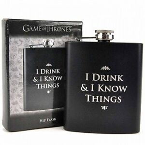GAME OF THRONES - Flachmann Hip Flask I drink and I know things Tyrion