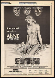ALONE-IN-THE-DARK-Original-1982-Trade-print-AD-poster-JACK-PALANCE-CAROL-LEVY