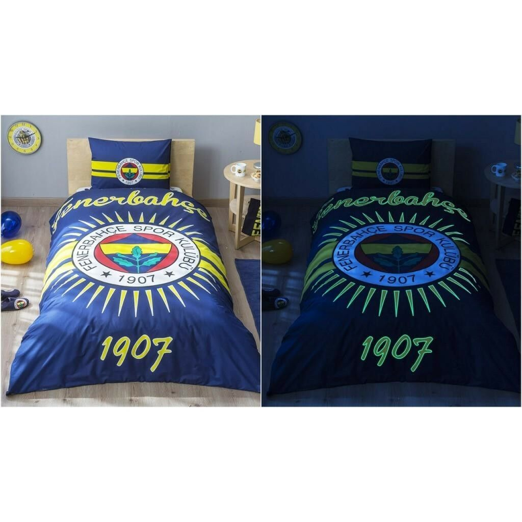 TAC LEUCHTENDE Bettwäsche Fenerbahce Fenerbahçe Nevresim Takımı original  NEU