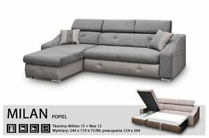 Delicieux Image Is Loading UNIVERSAL CORNER SOFA BED MILAN SLEEP FUNCTION BED