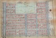 1925 HARLEM W. 116-W120TH STREET MANHATTAN NYC G.W. BROMLEY PLAT ATLAS MAP 12X17