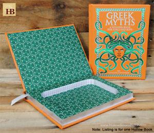 Details About Hollow Book Safe Greek Myths Orange Leather Bound Book Safe