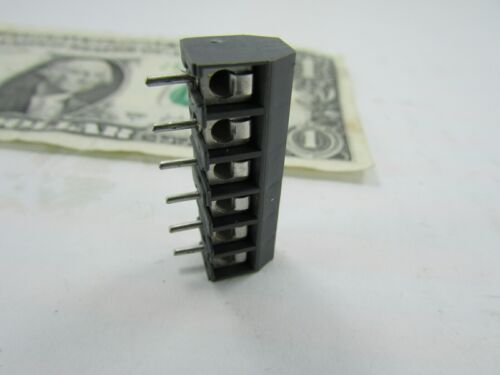 """5 Weco 6-Position Wire to Board Terminal Blocks 950-DS//06 5MM .197/"""" 20871056 NOS"""