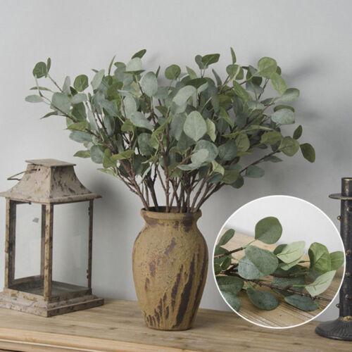 Artificial Fake Eucalyptus Leaf Silk Green Plant Flowers Home Wedding Decoration