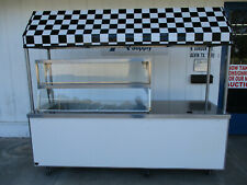 New Listinghow Cool Duke Concession Cart Ice Well Display Shelves Canopy 6087
