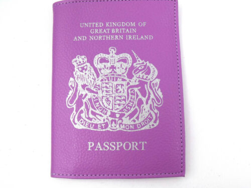Neu UK und Europäisch Pass-Inhaber Schutzabdeckung Portemonnaie Reise 6 Farben