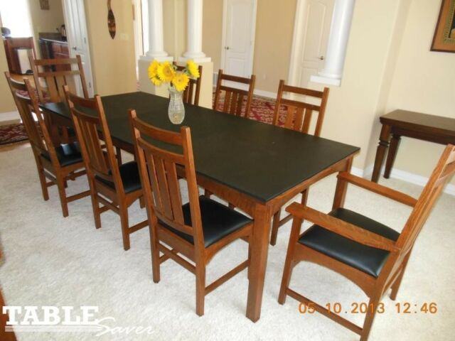 Wood Grain Custom Dining Table Pads