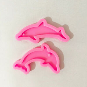 Ribbon Heart Resin Casting Silicone Mould Keychains Key Ring Jewelry Epoxy DIY