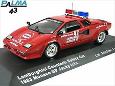 IXO PALMA 1/43 Lamborghini Countach Safety Car 1983 Monaco GP 1 of 1500 pcs LTD
