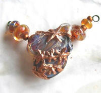 Lgl- Handmade Lampwork Boro Beads Copper Star Flower Nc1428- Sra Jewelry & Craft