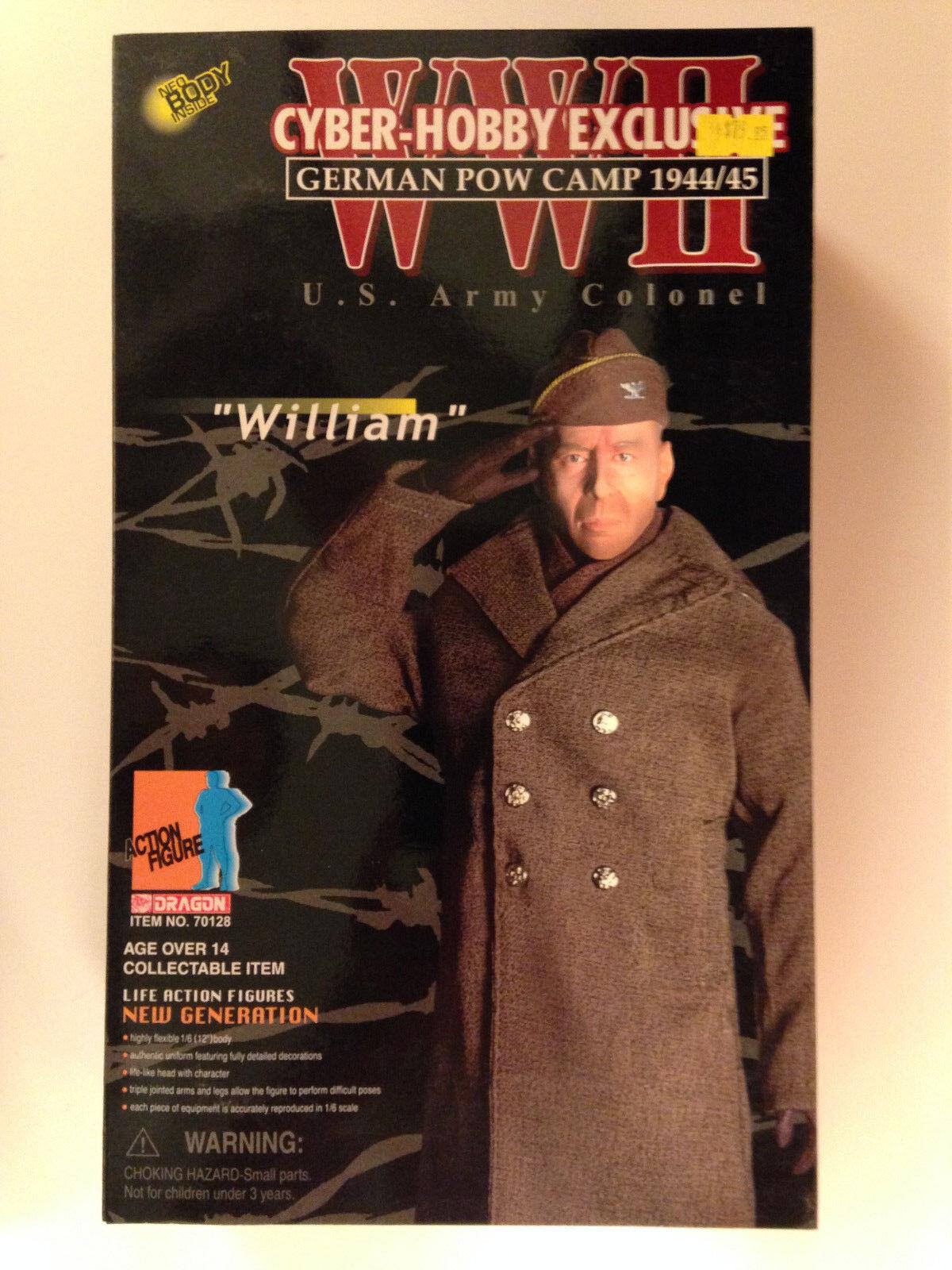 Dragon De 12 Pulgadas Segunda Guerra Mundial 1944 Cyber-hobby Bruce Willis Hart's War Coronel William Figura