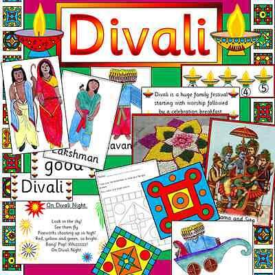 DIVALI Hindu festival teaching resource on CD - KS1 / EYFS Diwali RE Childminder