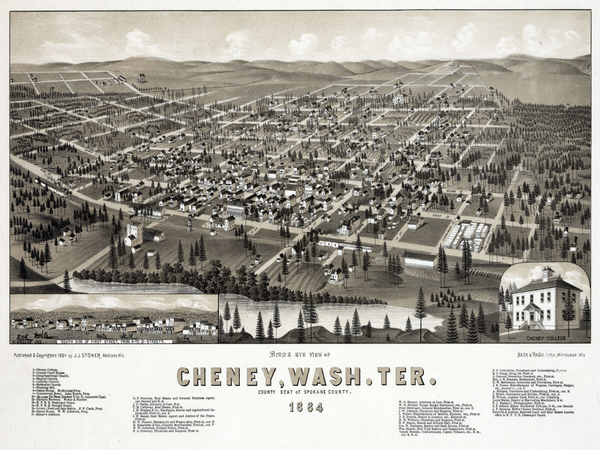 16x20 Decor CANVAS.Interior design.Aerial view of 1884 Cheney Washington.7351