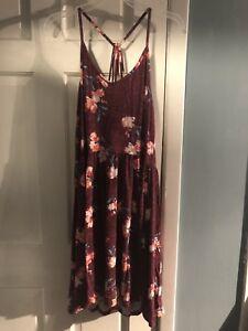 Strappy-Skater-Knit-Floral-Dress-Size-xL