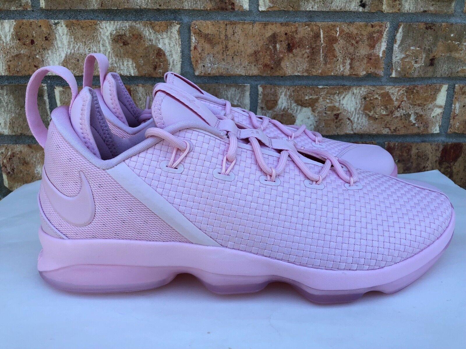 db9a6d88a8dc3 Men s Men s Men s Nike Lebron XIV 14 Lows Basketball Shoes Triple Prism  Pink 878636-600 a1fcef