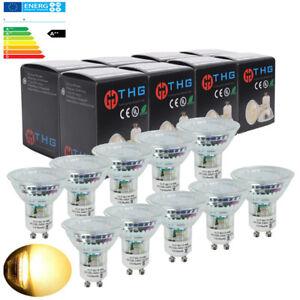 10Stueck-GU10-MR16-4W-LED-Birne-Leuchte-Lampen-ersetzt-40W-Halogenlampen-Warmweiss