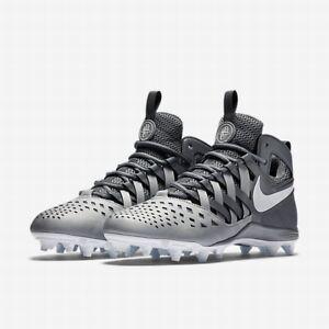 11028eb80eb0 🚨New Nike Huarache V5 LAX Lacrosse Cleats Shoes Grey White 807142 ...