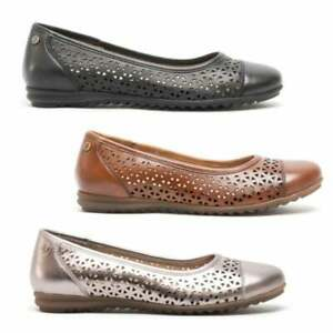 Hush-Puppies-LEAH-Ladies-Womens-Casual-Slip-On-Leather-Ballerina-Pumps-Shoes