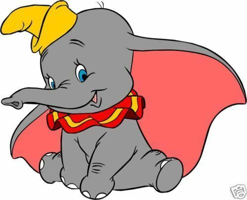 Disney Dumbo Character Movie Iron On Tee T-Shirt Transfer A5