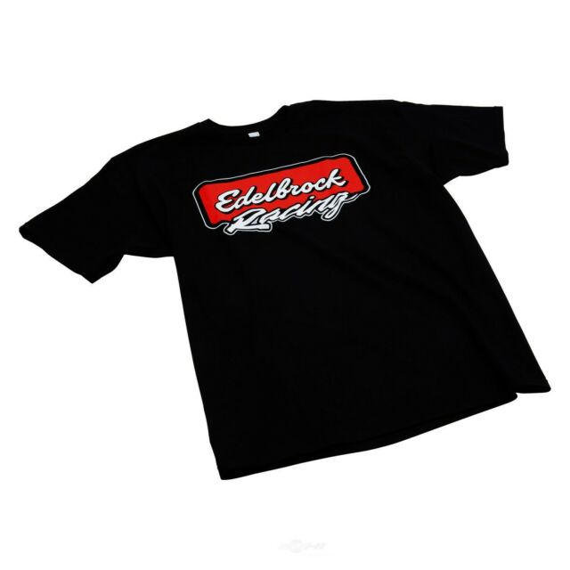 Edelbrock 2312 T-Shirt Short Sleeve Cotton Black Edelbrock Logo Men/'s Large Each