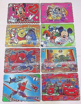 Minnie 3D holographique placemats-spiderman HelloKitty Mickey skylanders Moshi