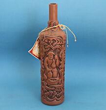 Georgia Georgian Ceramic Clay Khvanchkara Red Semi-Sweet Wine Bottle EMPTY