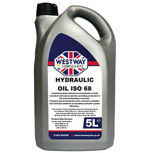 Hydraulic Oil 68 Fluid 5L VG68 Westway High Grade 5 Litres ISO 68 Tellus 33