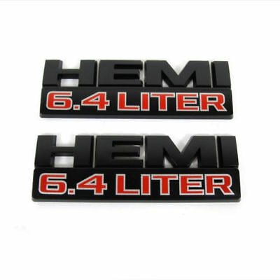 2x LARGE 6.4 LITER Badge 6.4L Y 68276960AA Black