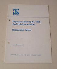 Reparaturanleitung SACHS Stamo SB 93 - Rasenmäher Motor - Ausgabe 1971!