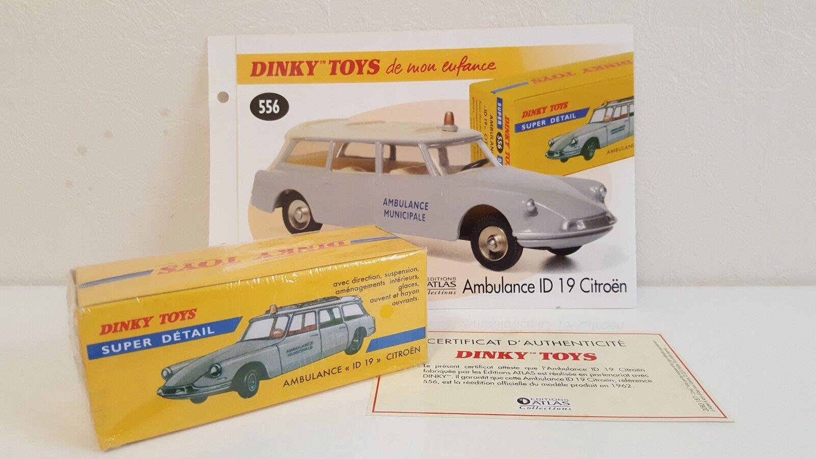 Dinky Toys Atlas - Citroën ID 19 Ambulance Municipale Municipale Municipale NEUVE 159d3d