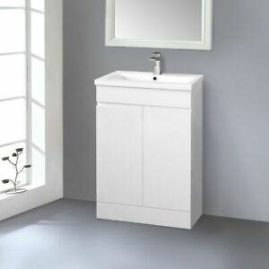 600mm Bathroom Vanity Unit Basin Sink Storage Floor ...