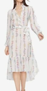Midi met white Nieuw bloemenprintoff M Bunty Bcbgmaxazria jurk vNOPy0mnw8