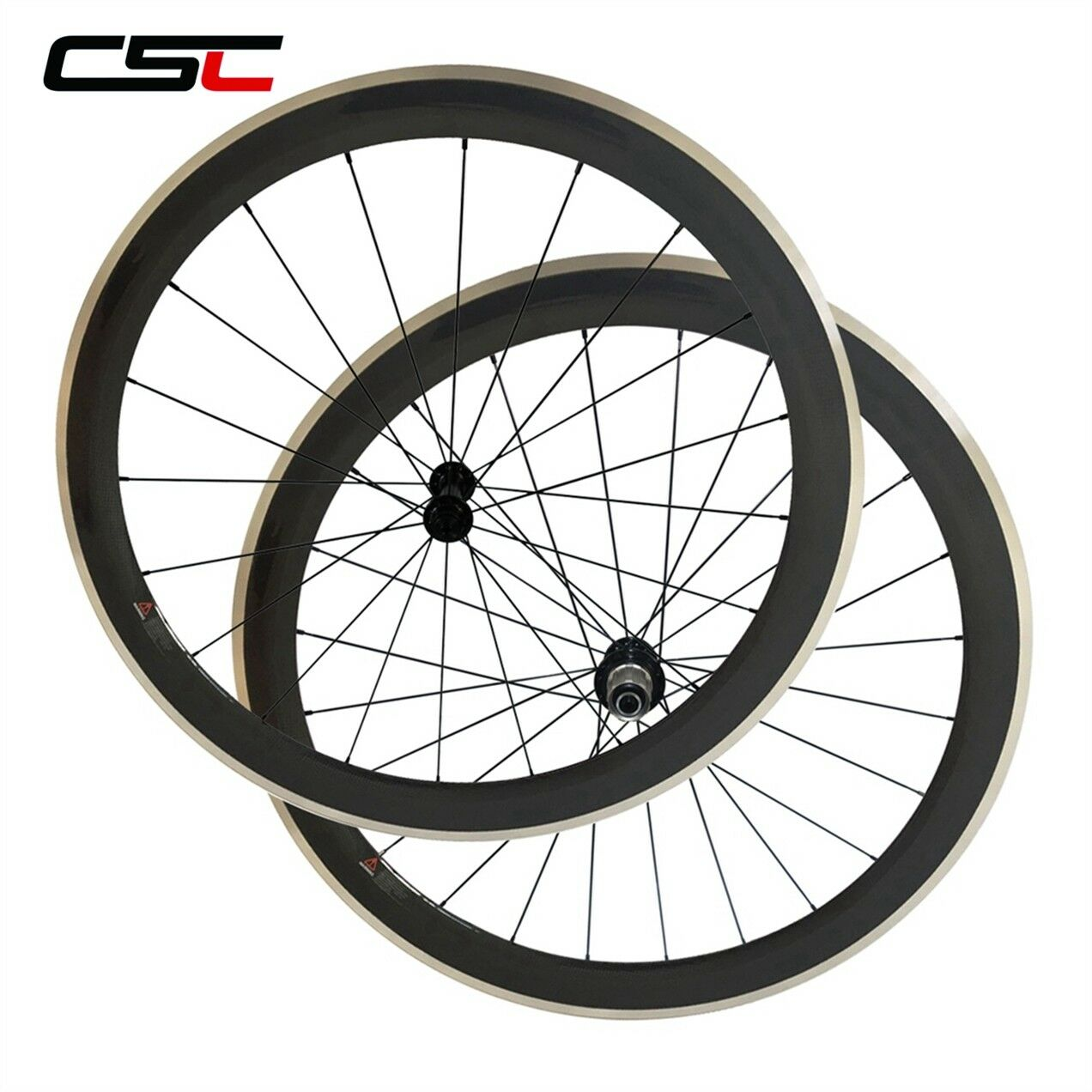 Aluminium Brake Surface 38mm  50mm 60mm 80mm Clincher Carbon Bike Wheels  cheap store