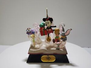 Disney 75th Anniversary Book Sculpture Mickey Mouse Dumbo Cheshire Cat Pinocchio