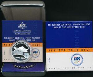 Australia-2004-5-Olympics-Sydney-to-Athens-1-167oz-Silver-Proof-Cat-85