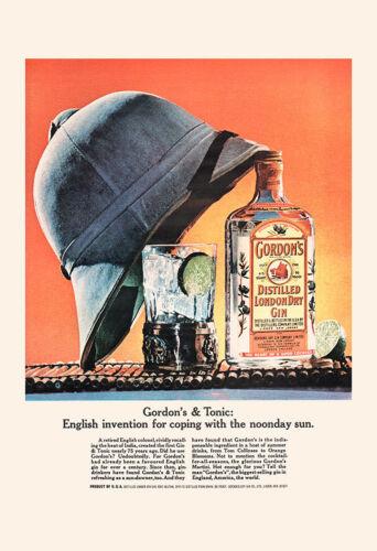 Retro Wall Art, Retro Gin Ad Bar Poster Bar Decor VINTAGE GORDON/'S GIN Ad